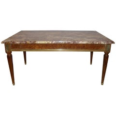 Maison Jansen Louis XVI Style Marble-Top Coffee Table