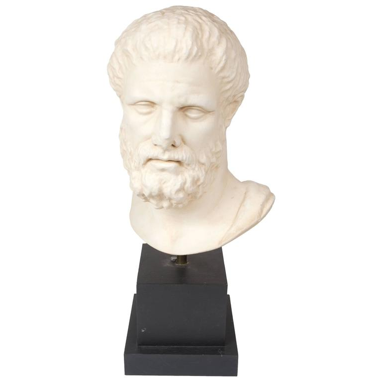 Plater Bust Of Diogenes Of Sinope At 1stdibs