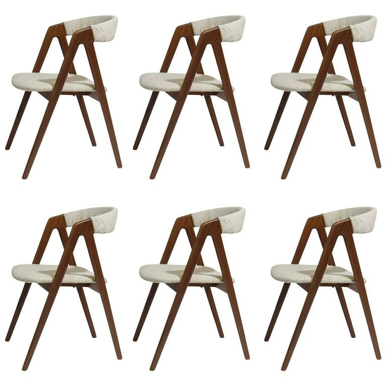 Six Midcentury Danish Walnut Danish Dining Chairs