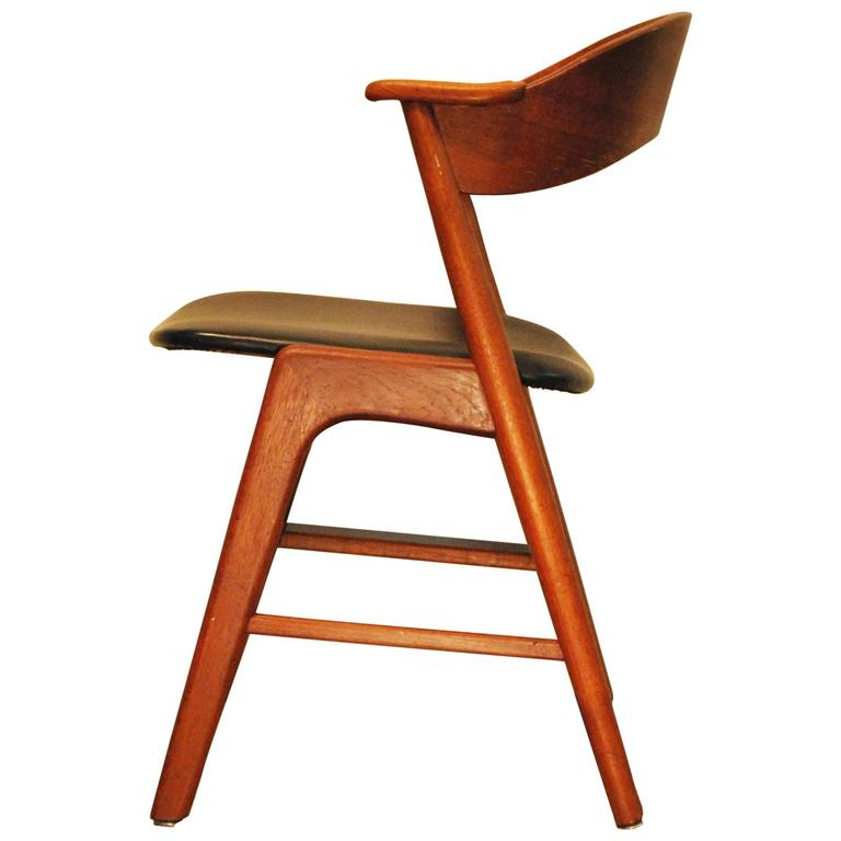 designed danish modern model 32 teak side chair circa 1960 at 1stdibs