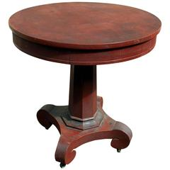 American Empire Painted Center Table with Drawer, circa 1840