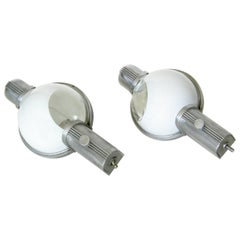 Henry Dreyfuss Wall Lamps for the Art Deco 20th Century Ltd Pullman Train Cars