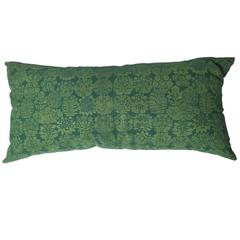 Folly Cove Designers Hand Block Printed Pillow with US State Flowers