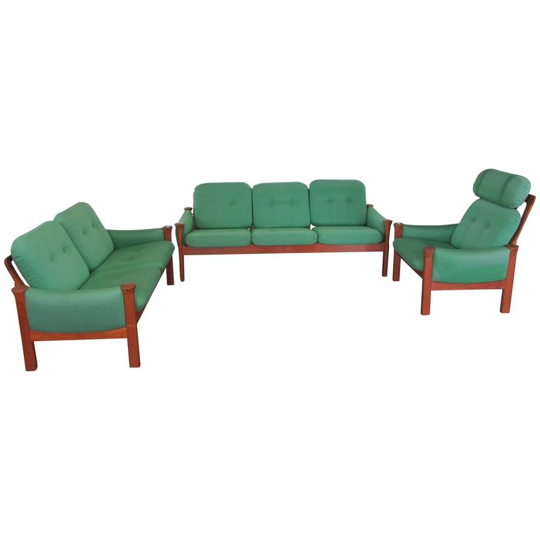 Teak Sofa Set by Arne Vodder