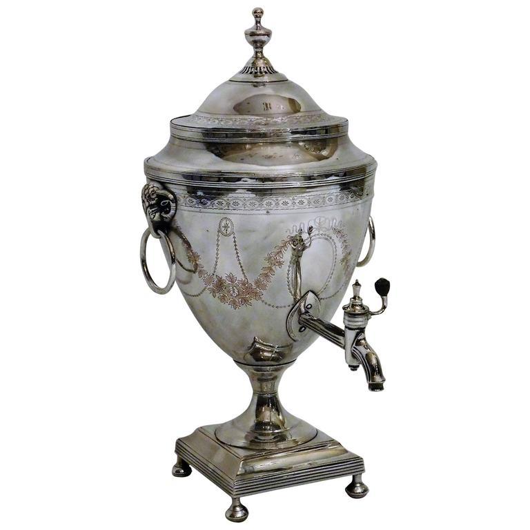 Edwardian Hot Water Urn, Sheffield, England, circa 1905