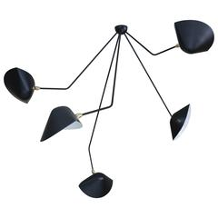 Falling Arm Ceiling Lamp by Serge Mouille