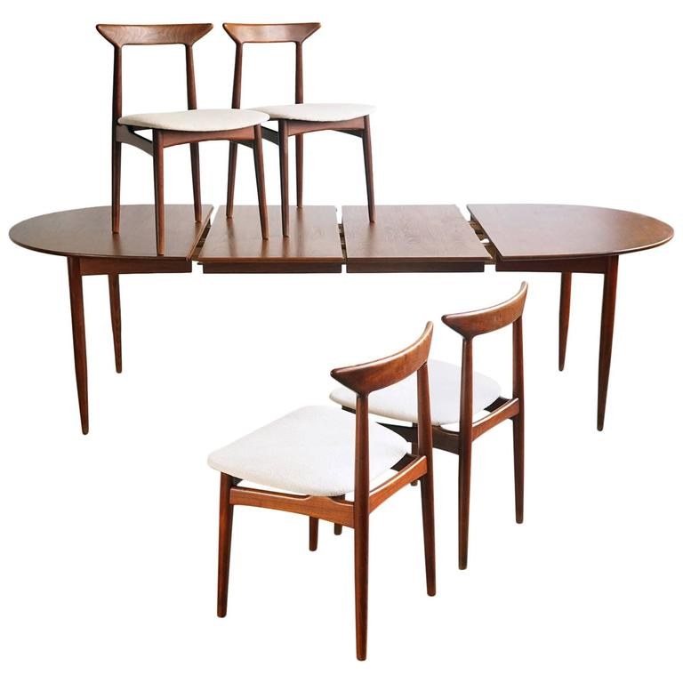 breathtaking danish scandinavian dining room furniture | Convertible Danish Modern Dining Set For Sale at 1stdibs