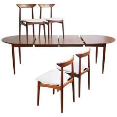 Convertible Danish Modern Dining Set