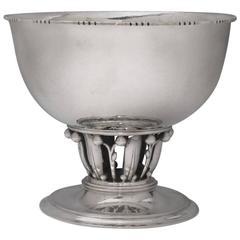 "Georg Jensen ""Louvre"" Sterling Silver Silver Bowl"