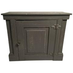Architectural Grey Painted Hanging Wall Cupboard
