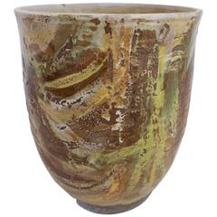 Abstract Glazed Ceramic Vessel by Stan Bitters