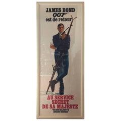 """James Bond Poster """"On Her Majesty's Secret Service"""""""
