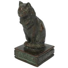 A Bronze Sculpture of a Persian Cat by American Sculptor Ruth Walker Brooks