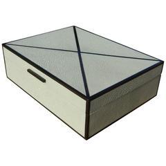 Sage Shagreen And Ebony Inlay Box