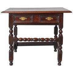 English Baroque Bobbin Turned Oak Table