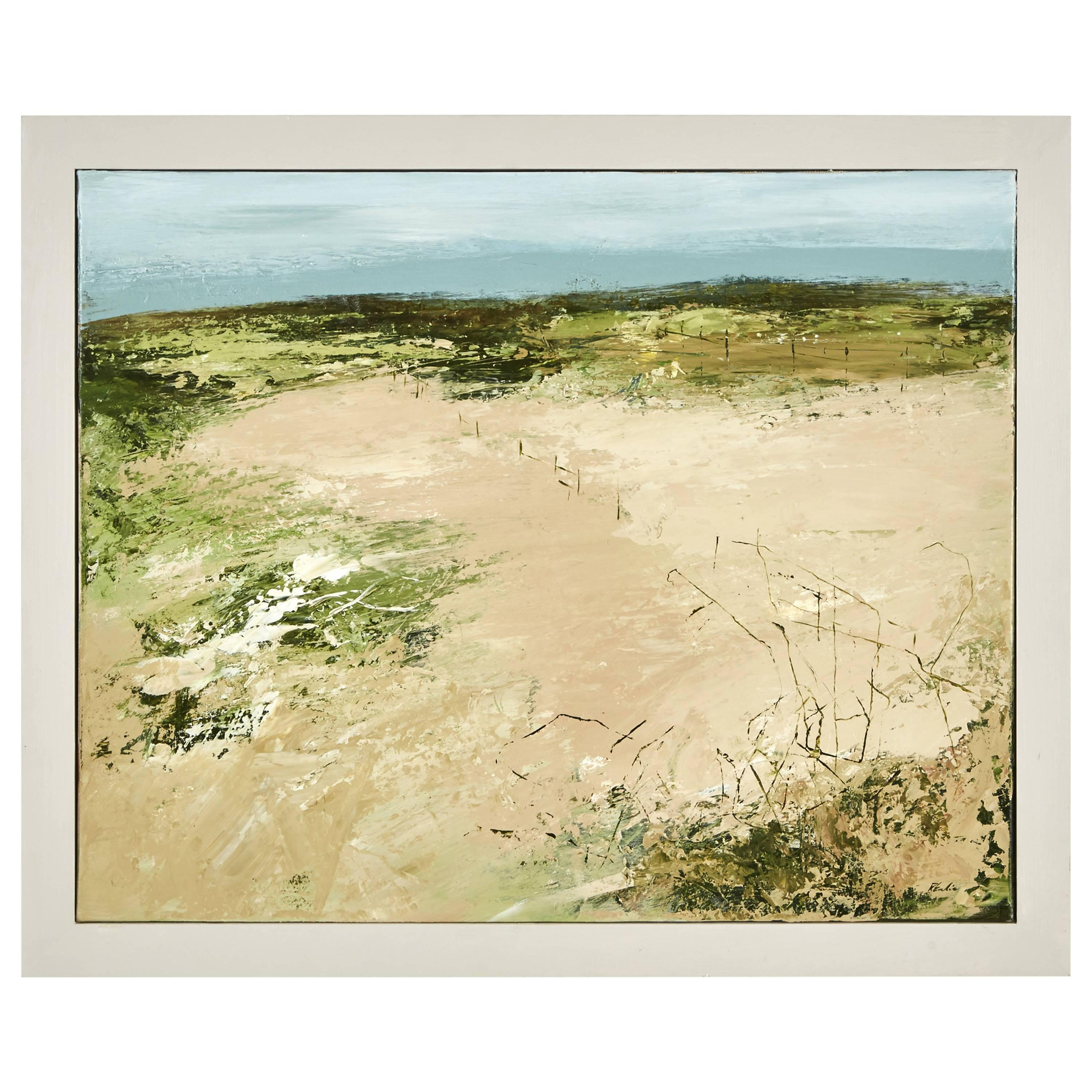 An Abstract Landscape Oil Painting by Robert Eadie