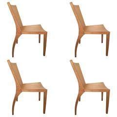Set of Four Jean Michel Frank Style Dining Chairs