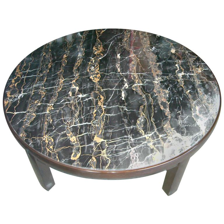 Edward Wormley Marble Coffee Table/Cocktail for Dunbar, Labels