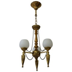 Brass Hall Lantern or Pendant Light