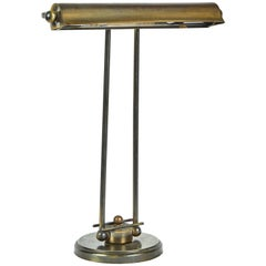 A 1940's English Desk Lamp in Brass