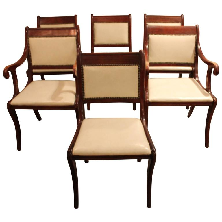 Pleasant Set Of Six Vintage Regency Style Dining Chairs Ocoug Best Dining Table And Chair Ideas Images Ocougorg
