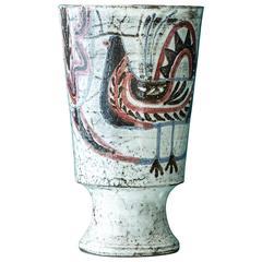 Jean Derval Ceramic Vase, 1940s