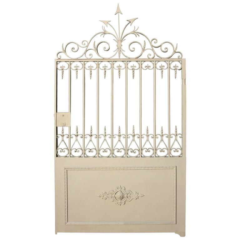 Antique French Wrought Iron Pedestrian Gate For Sale At 1stdibs