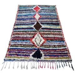 Moroccan Boucherouite Kelim Rug