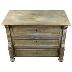 19th Century Viennese Baroque Revival Bleached Walnut Small Chest of Drawers