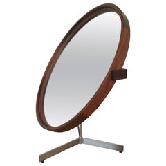 Uno and Osten Kristiansson Rosewood Table Mirror