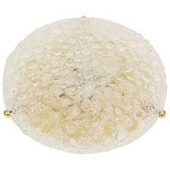 Large Hillebrand Bubble Textured Flush Mount