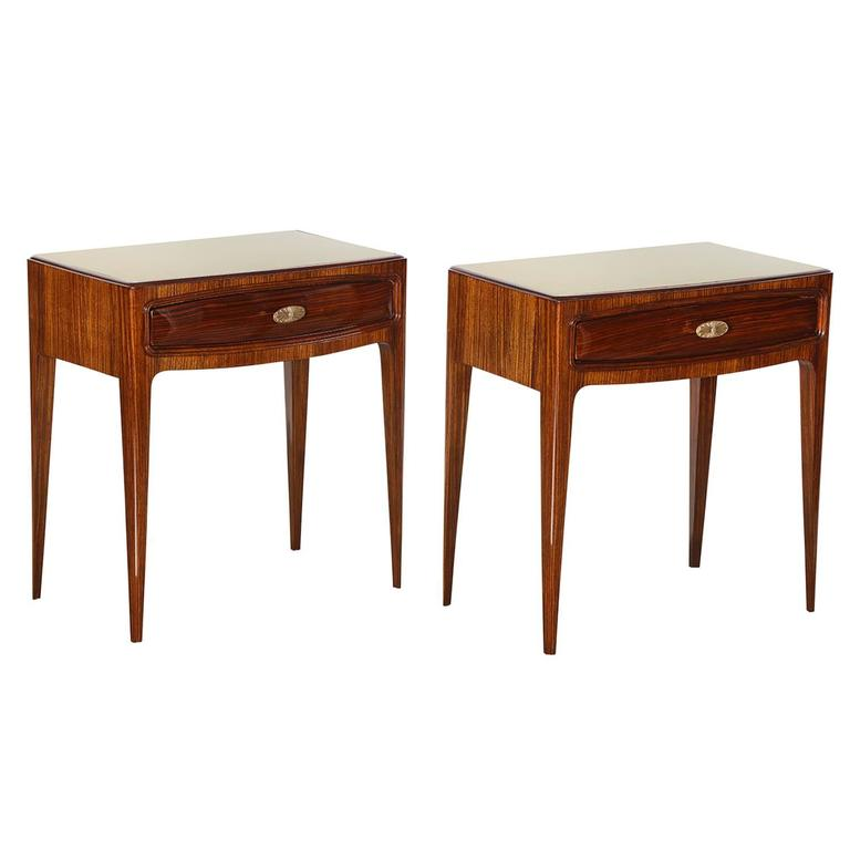 Pair of Elegant Nightstands by Paolo Buffa