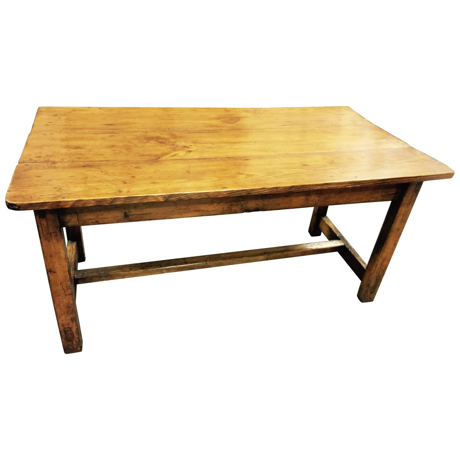 Early 19th century pine farm coffee table for sale at 1stdibs for Pine farmhouse coffee table