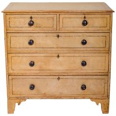 Early 19th Century Painted Chest of Drawers, England, circa 1840