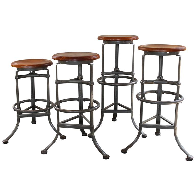 set four rite automatic adjustable vintage industrial bar stools with backs nz threshold stool