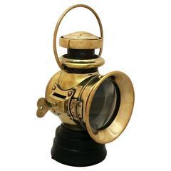 English Automobile Front Oil Lamp by Joseph Lucas, Ltd