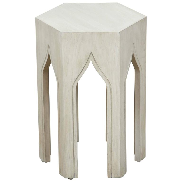 Whitewashed Tabouret Table by Lawson-Fenning 1