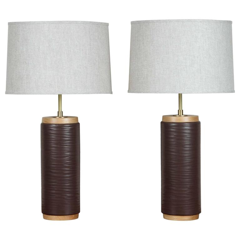 Pair of Heyward Lamps by Stone and Sawyer for Lawson-Fenning For Sale