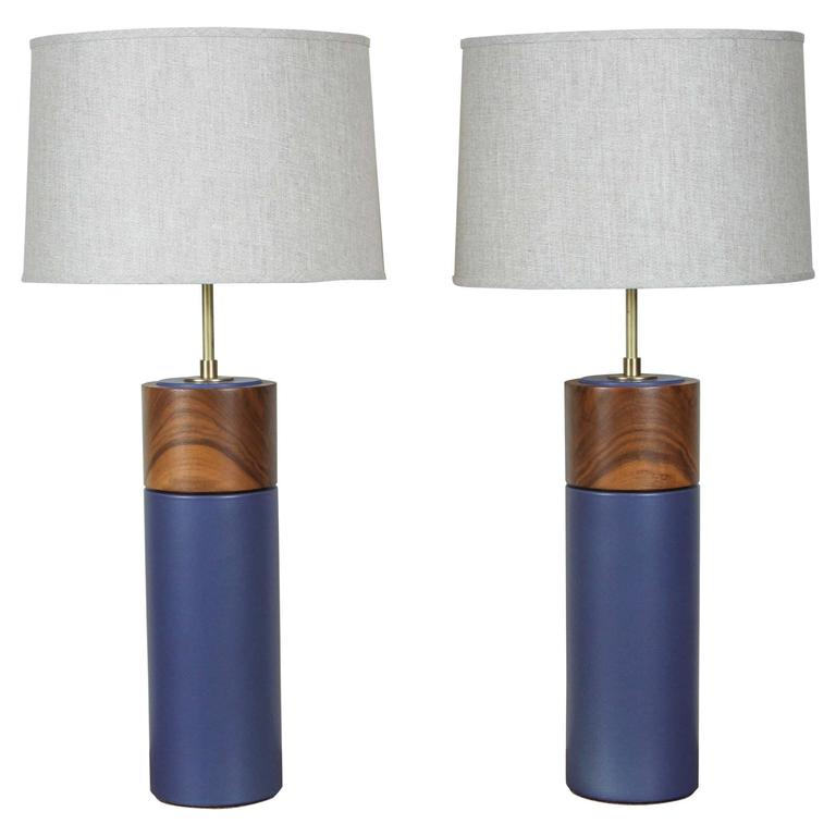 Pair of Tall Pipa Lamps by Stone and Sawyer 1