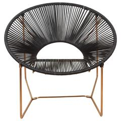 Cali Chair in Copper and Leather by Leon Leon