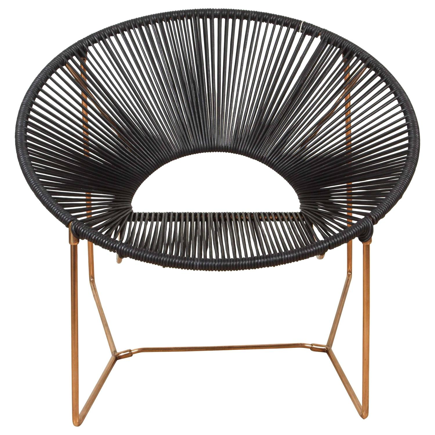 Cali Chair in Copper and Leather by Leon Leon at 1stdibs