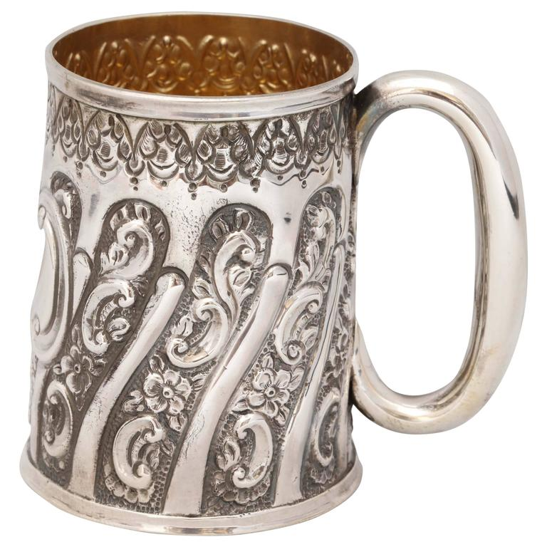 Victorian Sterling Silver Baby Cup For Sale