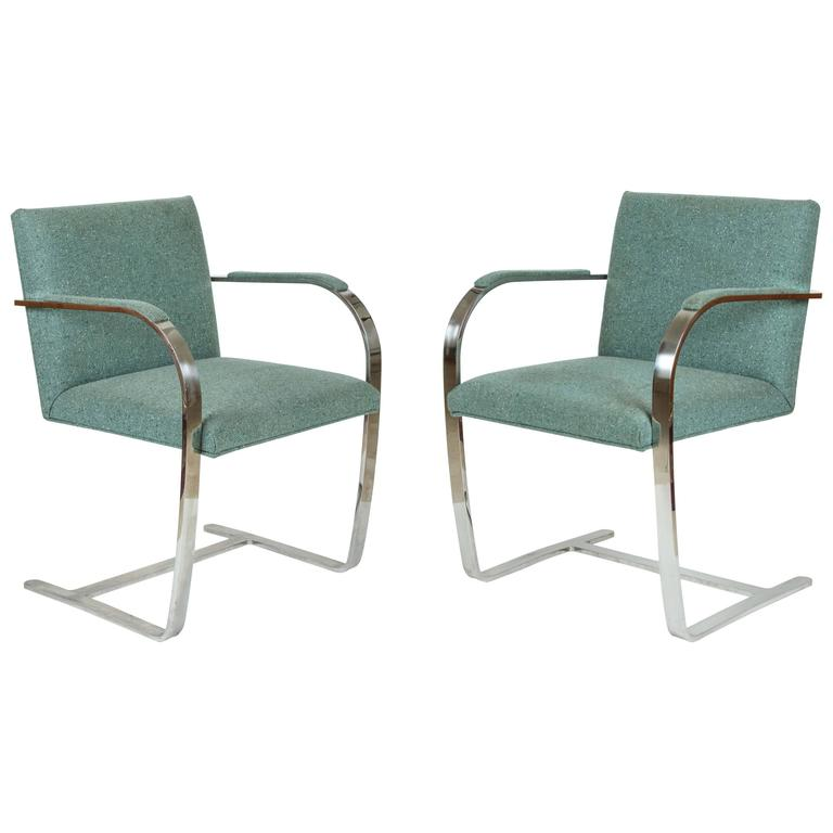 Mies van der Rohe Pair of Brno Chairs for Knoll 1