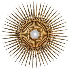 Giltwood Convex Sunburst Mirror