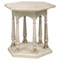 Octagonal Neoclassical Style Painted Accent Table