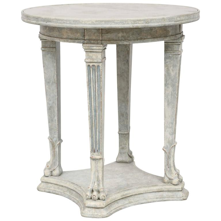 Round Occasional Table with Mirrored Top