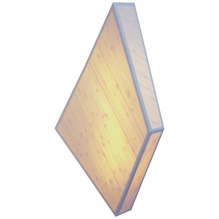 Diamond Sconce: Geometric Lighting in Bamboo and Brass 1