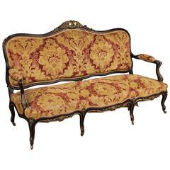 20th Century French Sofa in Damask Velvet