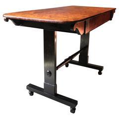 Fine Regency Period Burr-Walnut and Solid Ebony Sofa or Centre Table