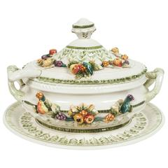Italian Tureen with Ladle and Tray